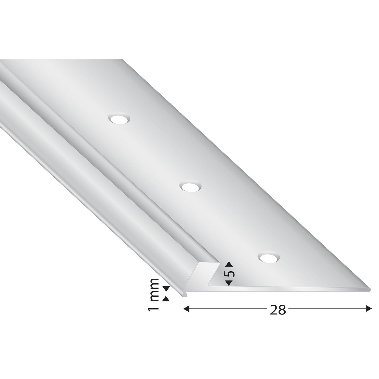 abschluss und treppenkantenprofil alu silber eloxiert 5 mm l nge 2700 mm. Black Bedroom Furniture Sets. Home Design Ideas