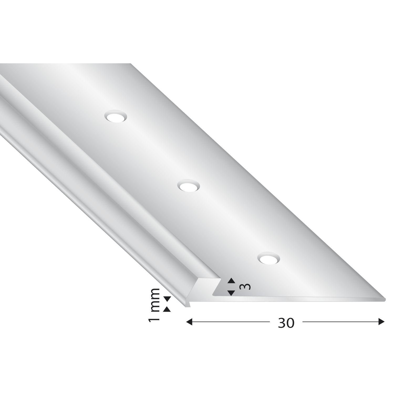 abschluss und treppenkantenprofil alu silber eloxiert 3 mm l nge 2700 mm. Black Bedroom Furniture Sets. Home Design Ideas