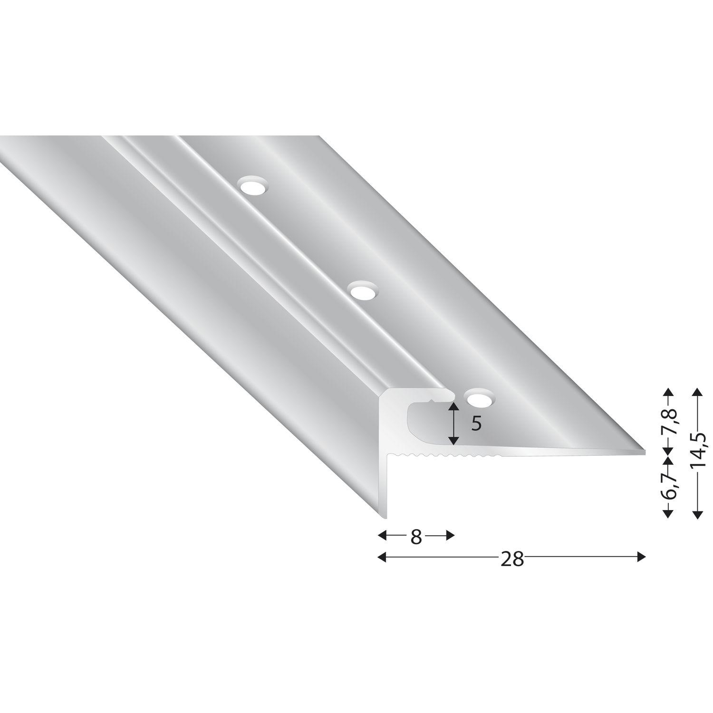 treppenkantenprofil alu silber 5 mm l nge 2700 mm. Black Bedroom Furniture Sets. Home Design Ideas