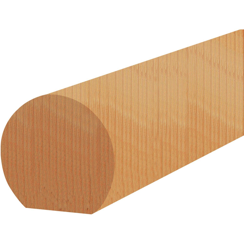 Edelstahlbogen Buche Handlauf Treppen Gel/änder Handl/äufer 30-500 cm aus einem St/ück mit Halter St/ützen Tr/äger und bearbeiteten Enden 150 cm L/änge mit 3 Haltern und Endst/ück