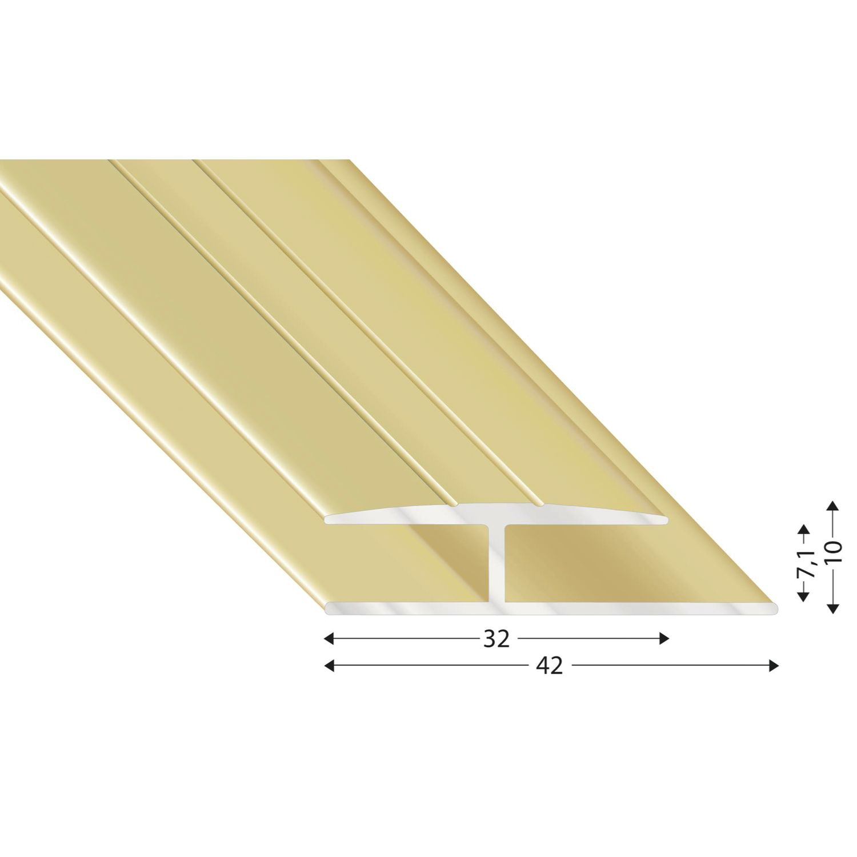 gleitabschlussprofil h alu sand eloxiert 7 2700 mm. Black Bedroom Furniture Sets. Home Design Ideas