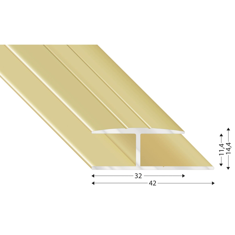 gleitabschlussprofil h alu sand eloxiert 10 2700 mm. Black Bedroom Furniture Sets. Home Design Ideas