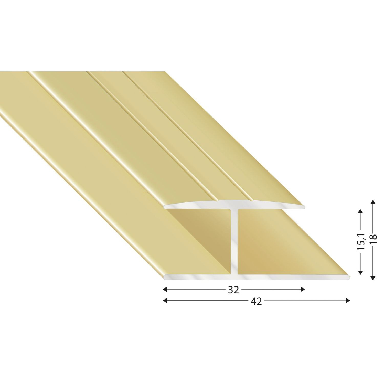 gleitabschlussprofil h alu sand eloxiert 15 2700 mm. Black Bedroom Furniture Sets. Home Design Ideas