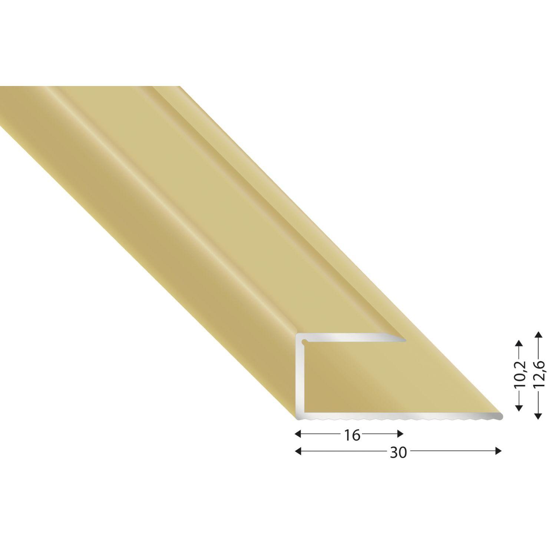 gleitabschlussprofil u alu sand eloxiert 10 2700 mm. Black Bedroom Furniture Sets. Home Design Ideas