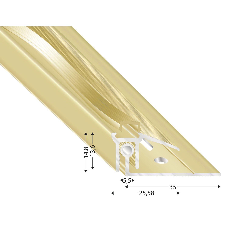Abschlu/ßprofil Alu eloxiert sand matt 1 m SB