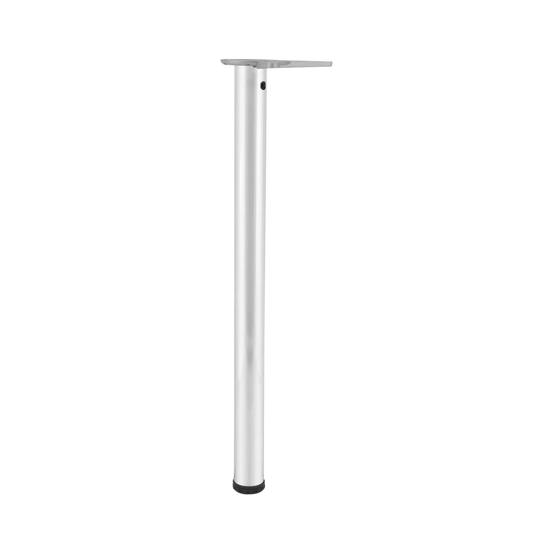 Stahl Edelstahl Effekt Länge 700 mm Tischfuß zylindrisch ø 50 mm