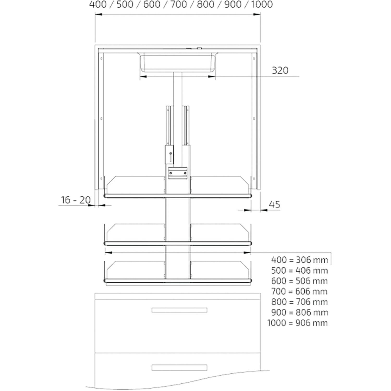 granberg verti 831 vertikal verfahrbarer schrankeinsatz inkl taster kb900 wei. Black Bedroom Furniture Sets. Home Design Ideas