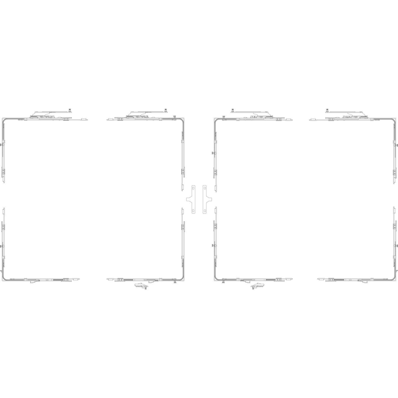 GU-966 PSK mZ Grundkarton Schere, Versatz 13 mm, rechts, Schema C