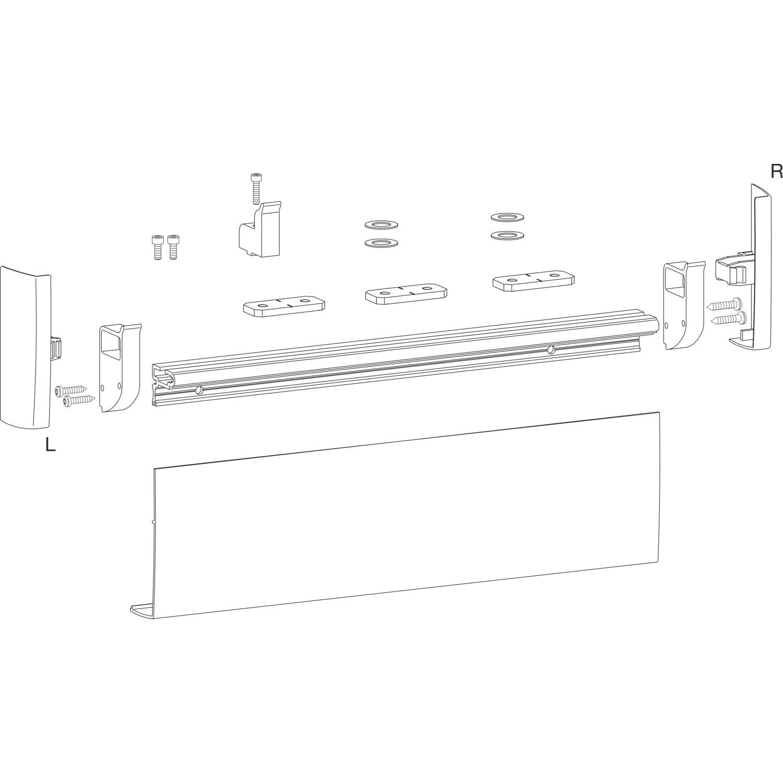 HAUTAU ATRIUM Comfort Close Schienenset, silber, L=1625 mm