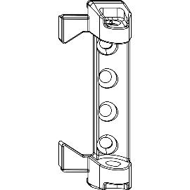 120 kg MACO Scherenlager PVC weiß 7 mm Tragezapfen 204779