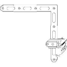 209477 schwarz L105 MACO RUSTICO Ladenhaltekonsole BLR 35 x 35 für Gr