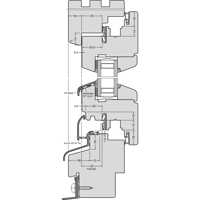 Krawattenhalter Kunststoff weiß 435 mm SB-1 secOtec