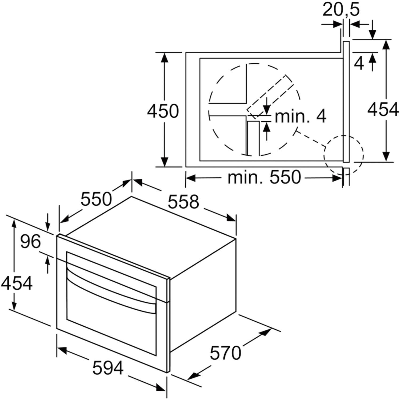 siemens mikrowelle cm585ams0 edelstahl. Black Bedroom Furniture Sets. Home Design Ideas