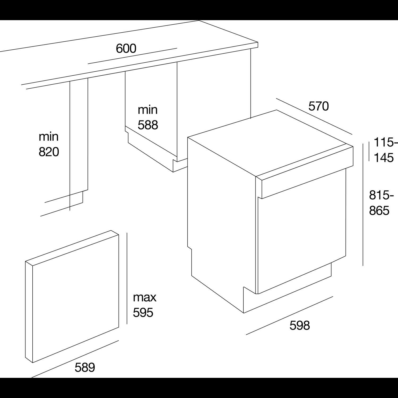 teka geschirrsp ler dw6 05 s teilintegriert 60 cm breit. Black Bedroom Furniture Sets. Home Design Ideas