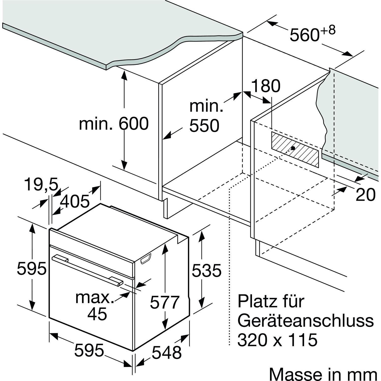 bosch backofen hrg675bs1 60 cm breit. Black Bedroom Furniture Sets. Home Design Ideas