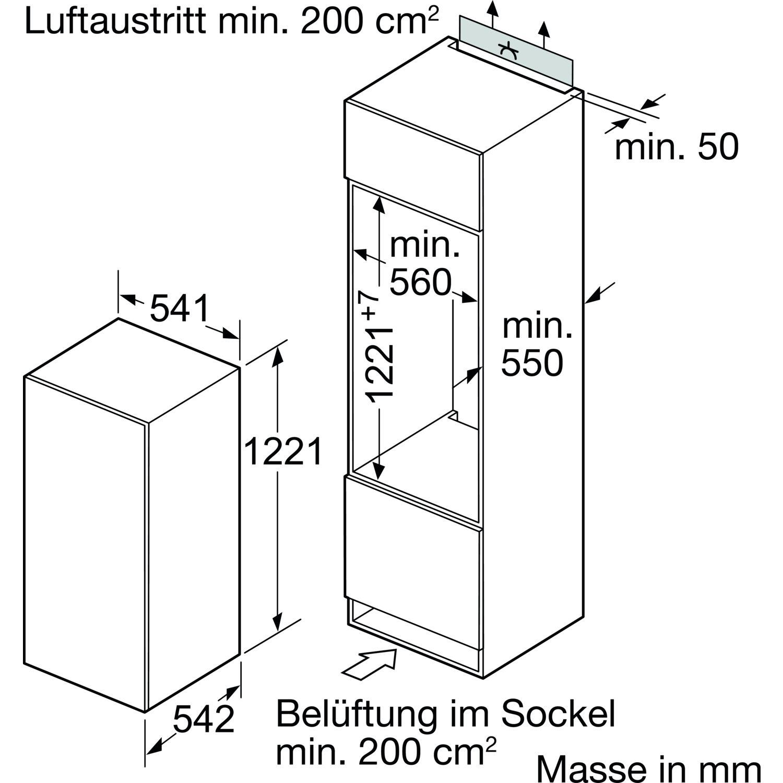 BOSCH Kühlschrank KIR24V62 integrierbar, 1225 mm