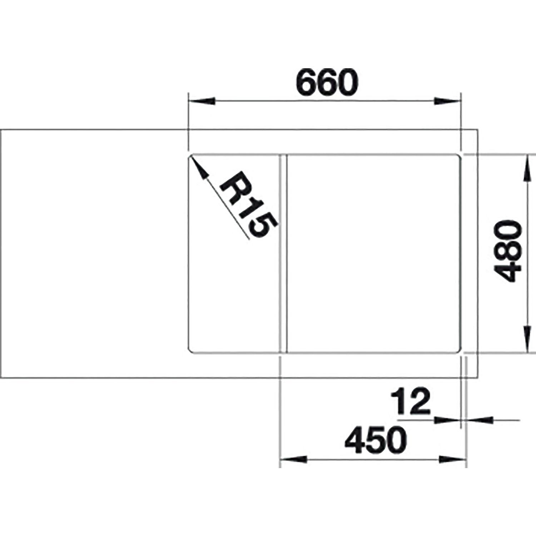 Blanco Einbauspule Zia 45 S Compact Anthrazit Mit Drehknopfgarnitur