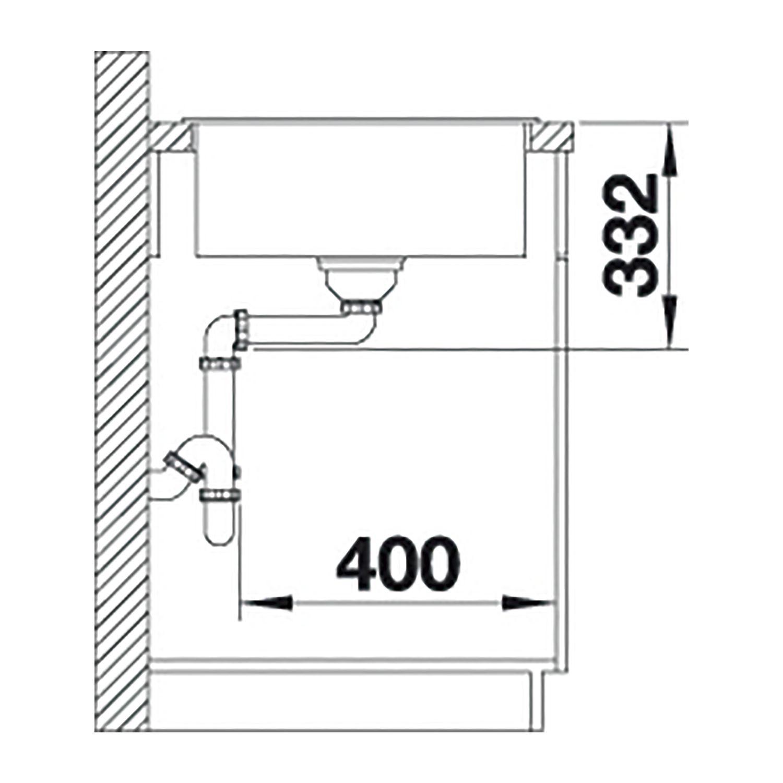Blanco Einbauspule Zia 45 S Compact Jasmin Mit Drehknopfgarnitur