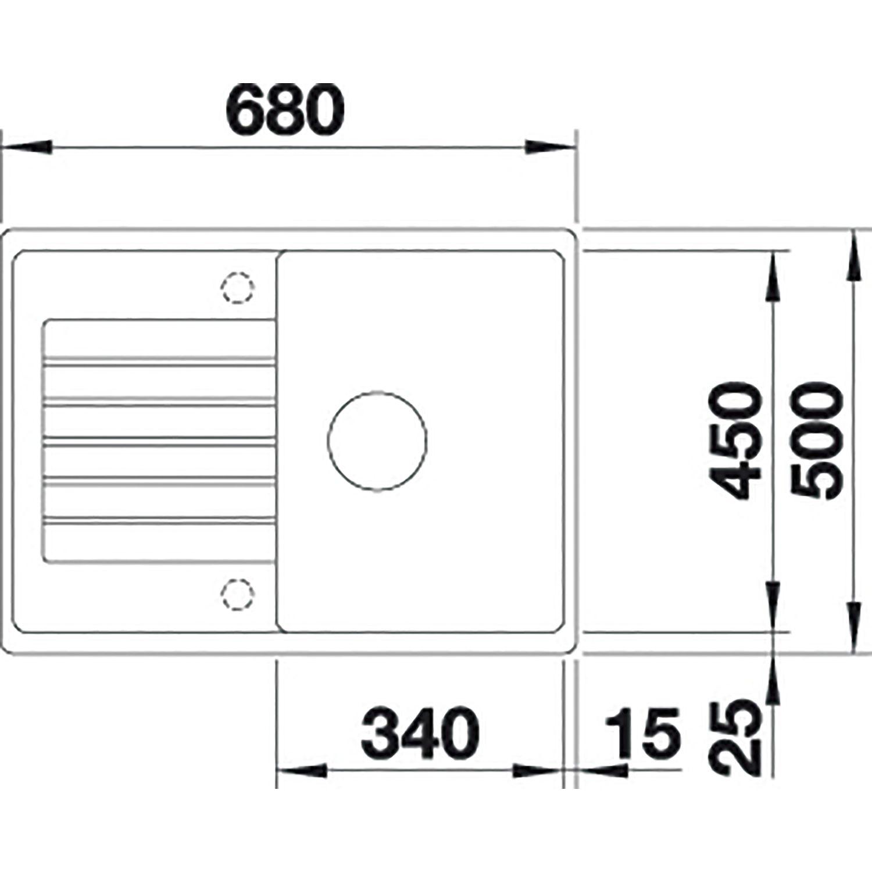 Blanco Einbauspule Zia 45 S Compact Perlgrau Ohne Drehknopfgarnitur