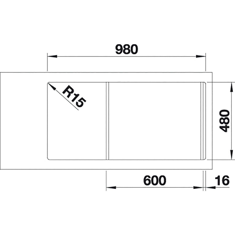 Blanco Einbauspule Faron Xl 6 S Mit Ablauffernbedienung Jasmin