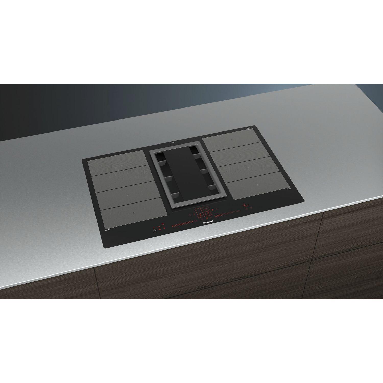 siemens kochfeld mit integriertem dunstabzug ex801lx34e glaskeramik 800 mm. Black Bedroom Furniture Sets. Home Design Ideas