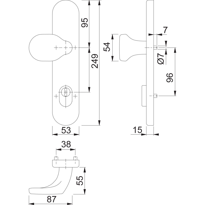 SH Knopflangschild f Rosettekomb PZ88 SST 67 72 mit Kzs