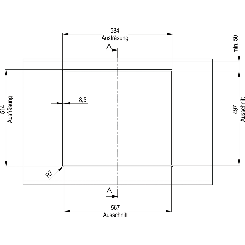 GUTMANN Autarkes Induktions Ceranfeld 11C600I 60 cm breit
