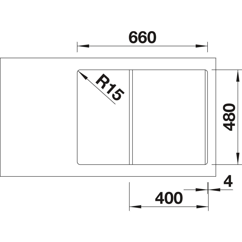 BLANCO Einbauspüle Lexa 40 S anthrazit mit InFino Ablauf