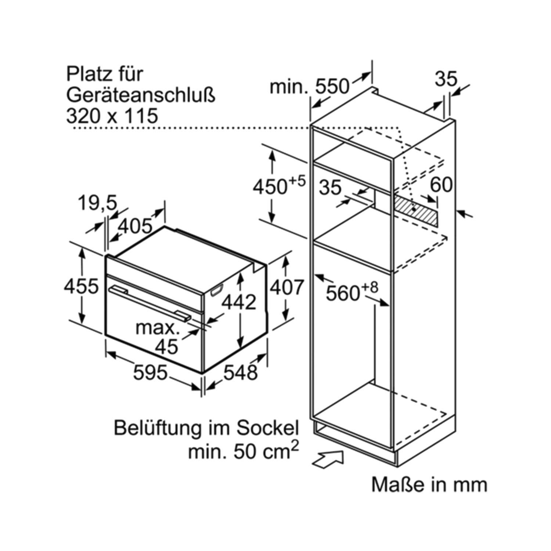 SIEMENS Kompakt Backofen mit Mikrowelle CM676G0S1 Edelstahl