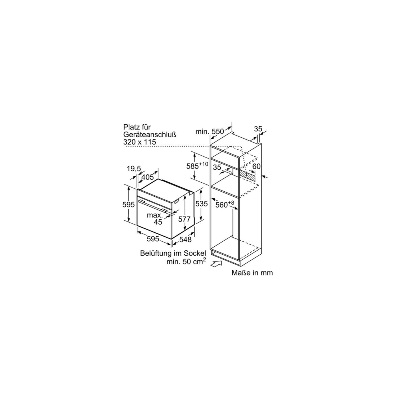 SIEMENS Einbau Backofen mit integrierter Mikrowelle HM636GNS1