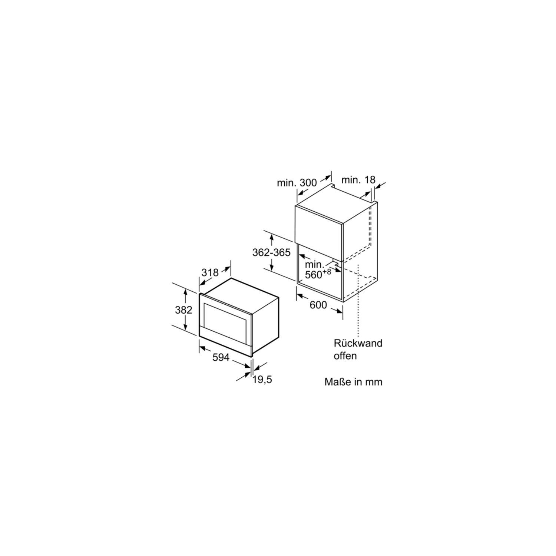 siemens einbau mikrowelle bf634rgw1 wei t ranschlag rechts 60 cm breit. Black Bedroom Furniture Sets. Home Design Ideas