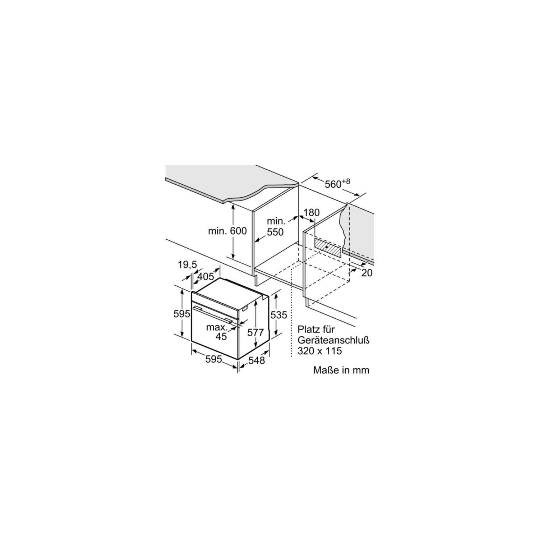 Siemens Einbau Backofen Mit Dampfstoss Funktion Hr675gbs1