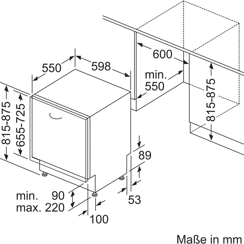 siemens geschirrsp ler sn658x06te vollintegriert nische 600 mm. Black Bedroom Furniture Sets. Home Design Ideas