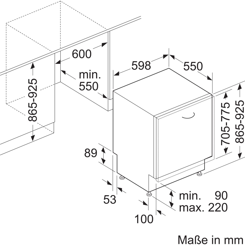 siemens geschirrsp ler sx658x06te vollintegriert nische 600 mm. Black Bedroom Furniture Sets. Home Design Ideas