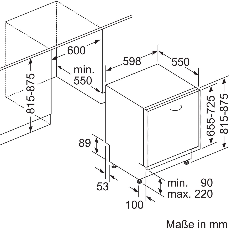 siemens geschirrsp ler sn636x03me vollintegriert nische 600 mm. Black Bedroom Furniture Sets. Home Design Ideas