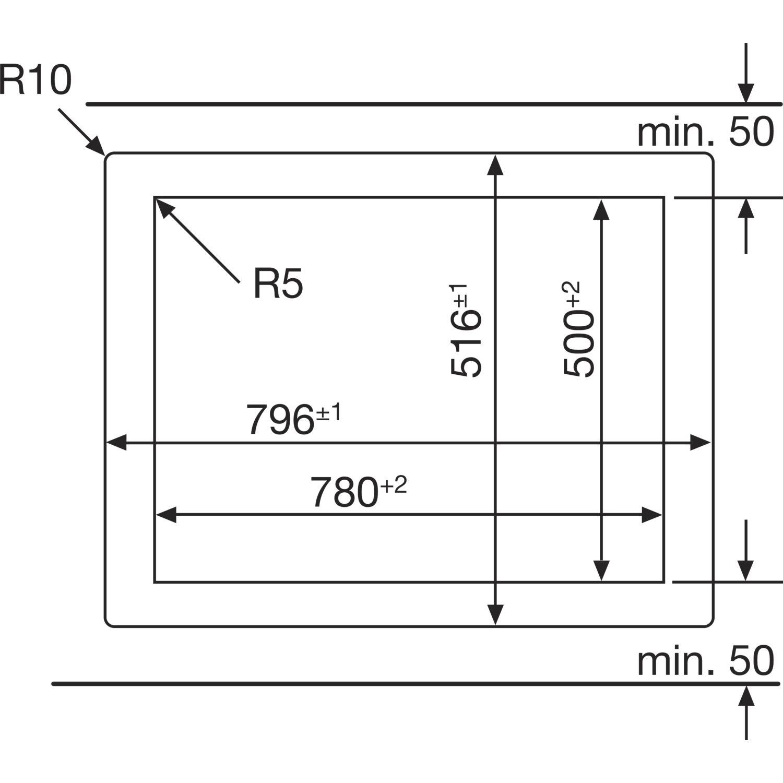 NEFF Kochfeld TPS 5821 X Glaskeramik Induktion autark 800 mm