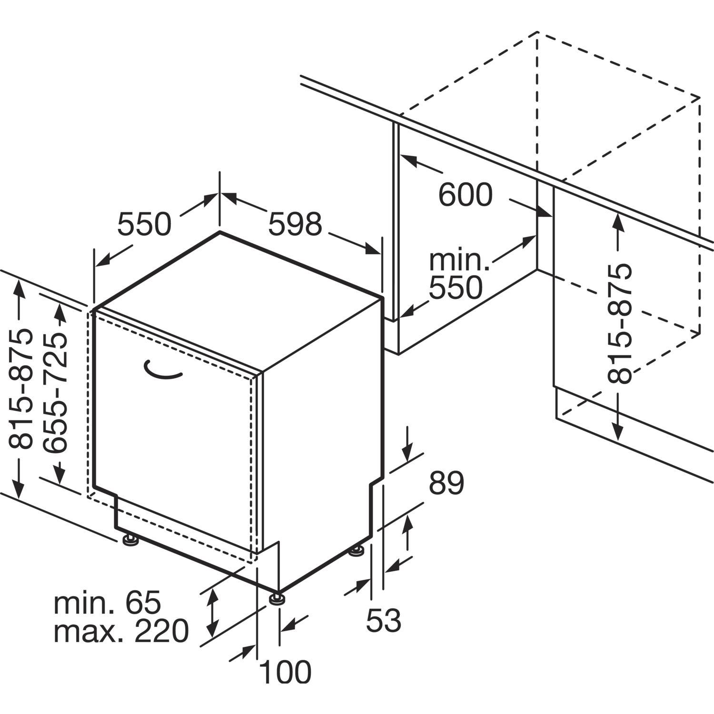 neff geschirrsp ler gv94602p vollintegriert nische 600 mm. Black Bedroom Furniture Sets. Home Design Ideas