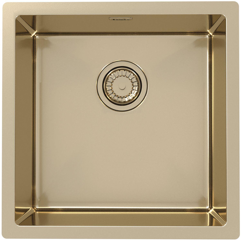 SOLIDO 2D Spüle Monarch Quadrix 30 Edelstahl Bronze