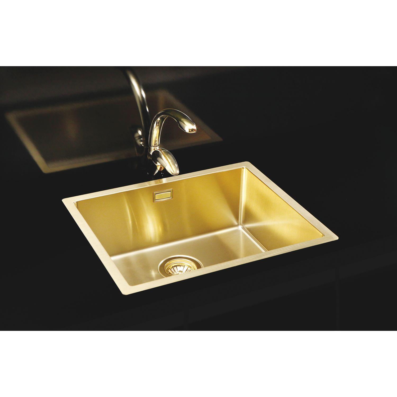 SOLIDO 2D-Spüle Monarch Quadrix 50 Edelstahl-Gold