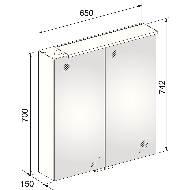 keuco spiegelschrank royal l1 13602 171301. Black Bedroom Furniture Sets. Home Design Ideas