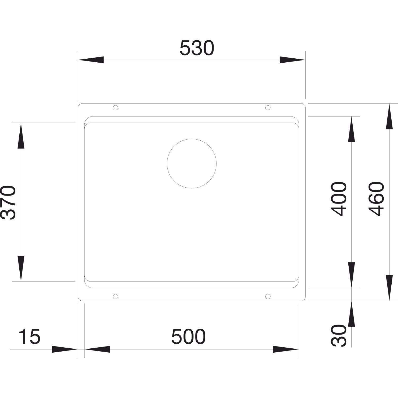 Blanco Unterbau Spule Etagon 500 U Anthrazit