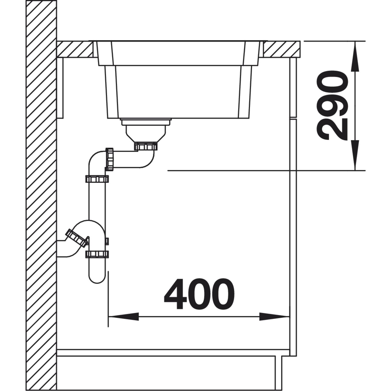 blanco 2d sp le etagon 500 if edelstahl mit schiene. Black Bedroom Furniture Sets. Home Design Ideas