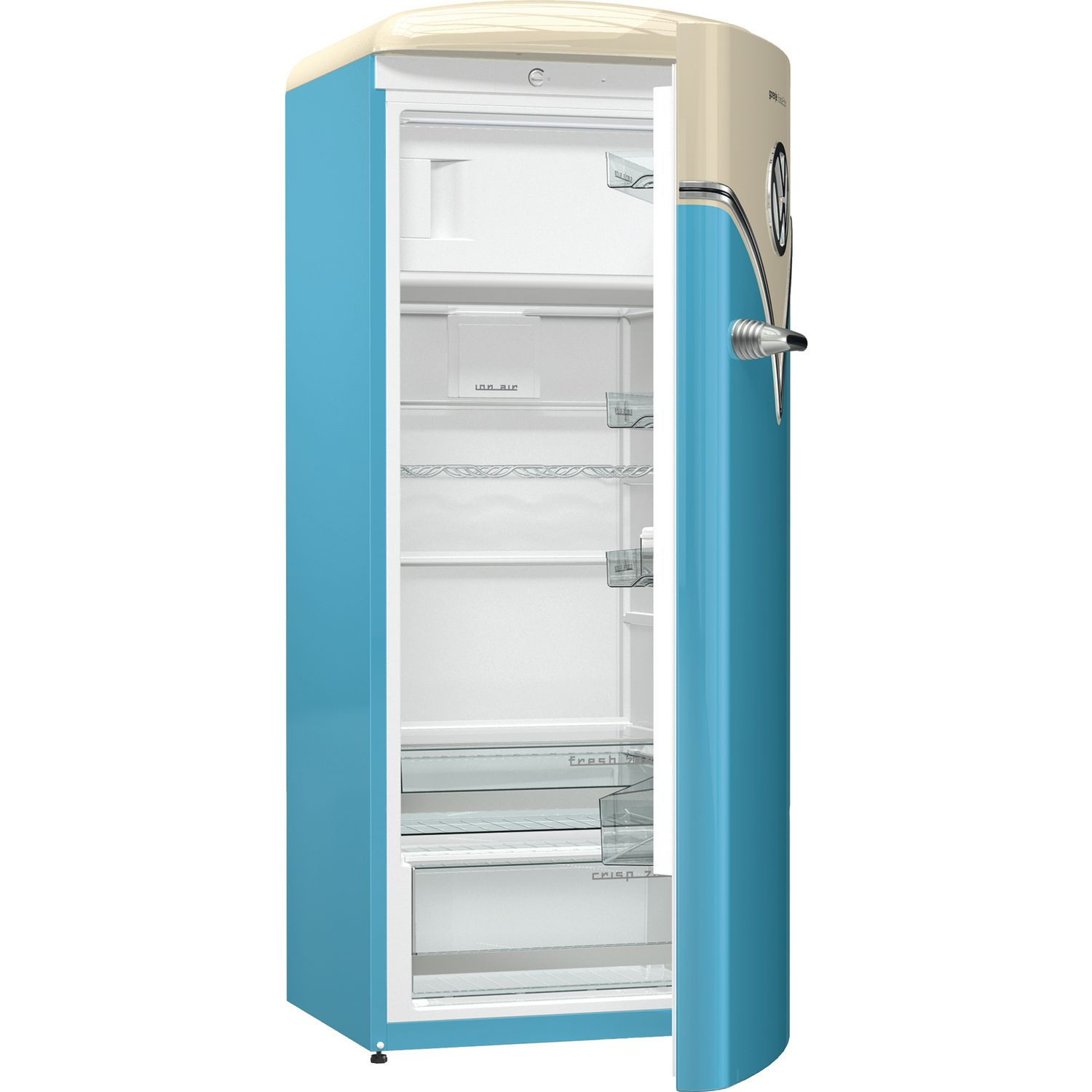 gorenje stand k hlschrank obrb 153 bl vw bulli ocean blue 154 cm hoch. Black Bedroom Furniture Sets. Home Design Ideas