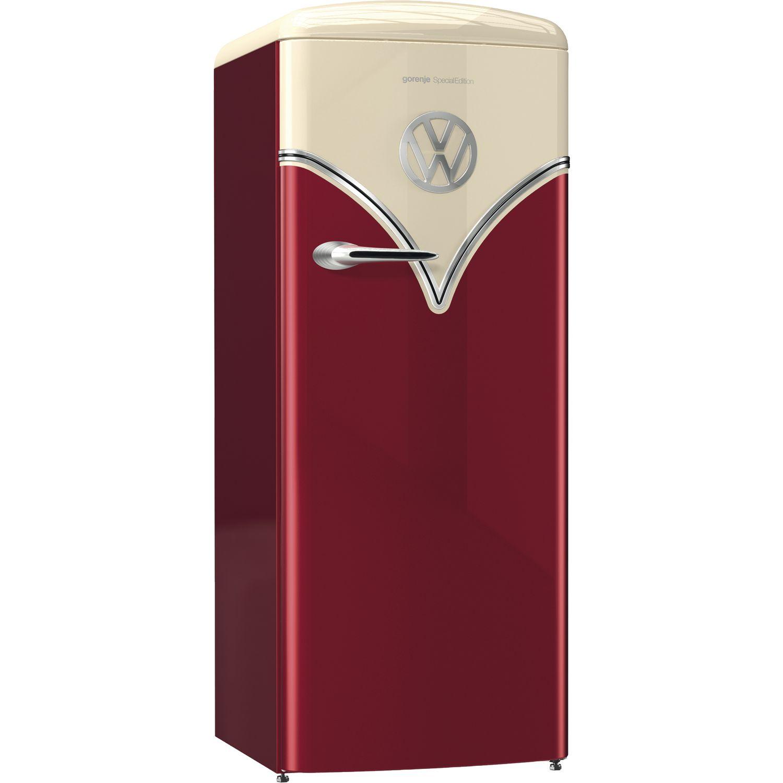 GORENJE Stand-Kühlschrank OBRB 153 R VW Bulli, Burgundy, 154 cm hoch