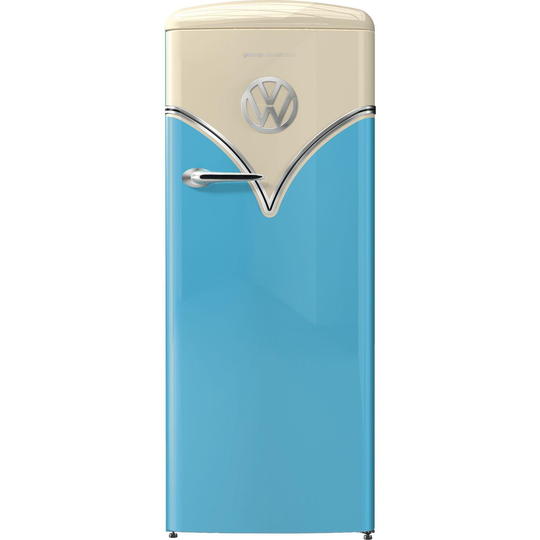 GORENJE Stand-Kühlschrank OBRB 153 BL VW Bulli, Ocean Blue, 154 cm ...