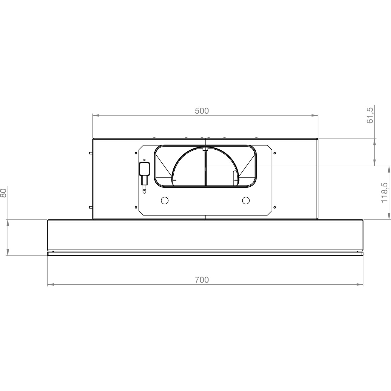 Gutmann decken dunstabzugshaube azoto 3500em1000b schwarz for Decken dunstabzugshaube