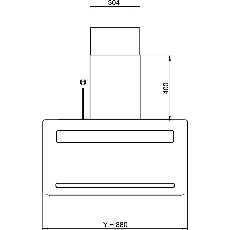 GUTMANN Wand Dunstabzugshaube Amplia 5300W880BBL mit Turm
