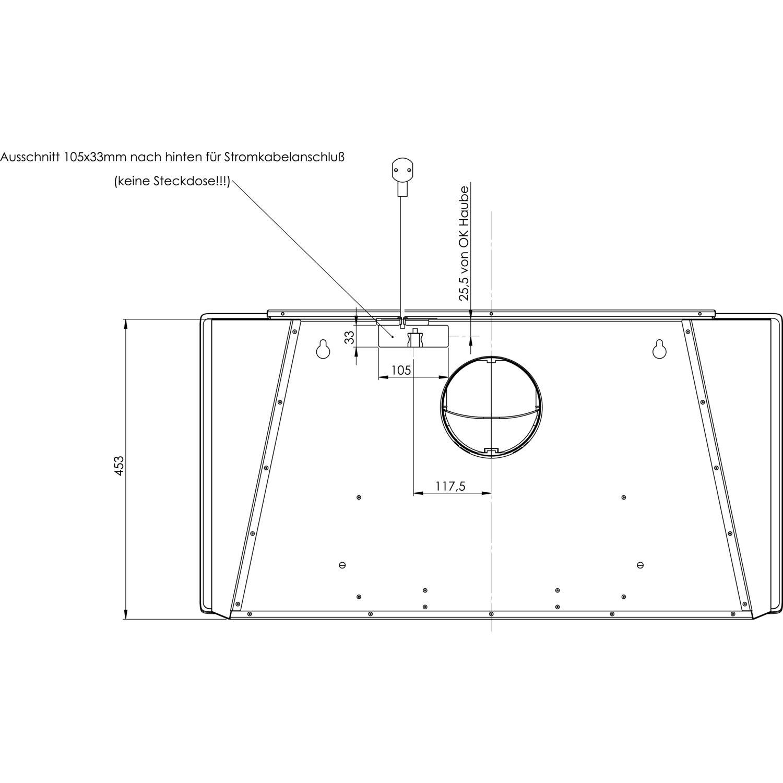 gutmann wand dunstabzugshaube amplia 5310w880bwh ohne turm. Black Bedroom Furniture Sets. Home Design Ideas