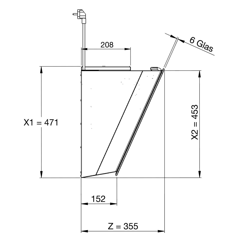 GUTMANN Wand Dunstabzugshaube Amplia 5310W880CWH ohne Turm
