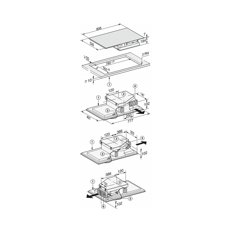 miele autarkes induktions kochfeld mit integriertem muldenl fter kmda 7774 1 fl. Black Bedroom Furniture Sets. Home Design Ideas